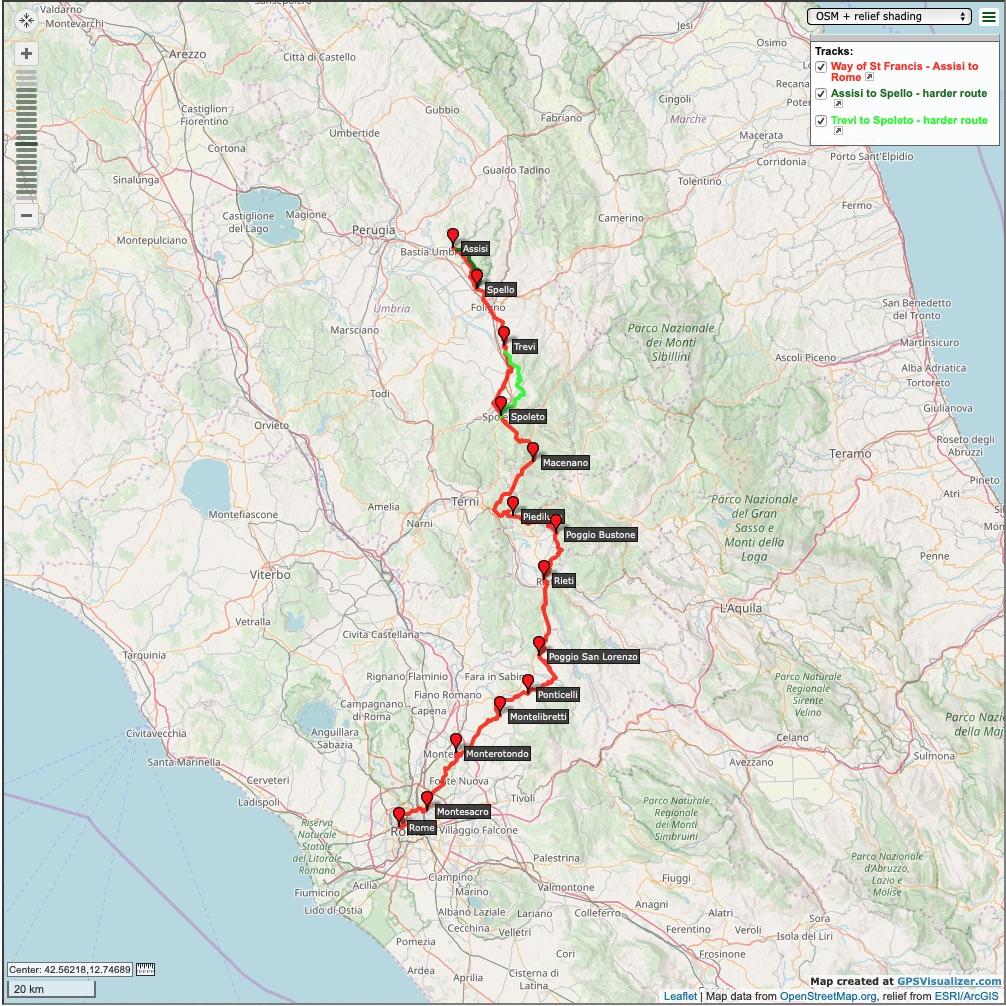 Pilgrim-Paths-Assisi-Rome-Map