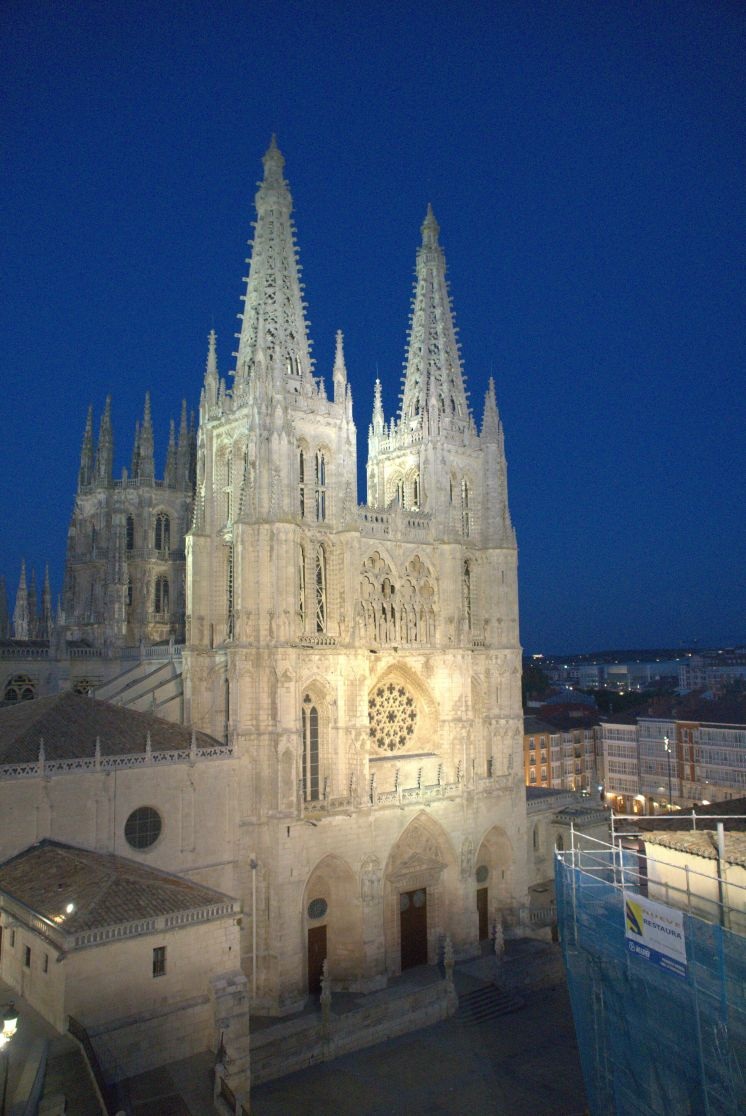 Pilgrim-Paths-Burgos-Cathedral-Night