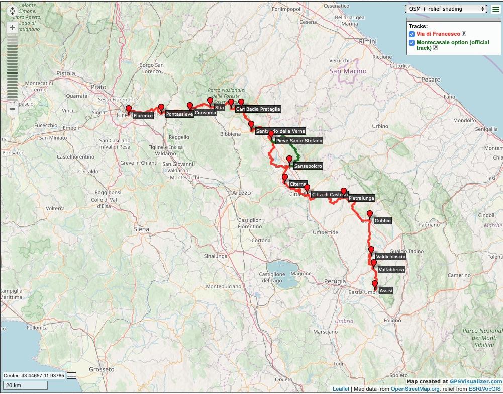 Pilgrim-Paths-Florence-Assisi-Map