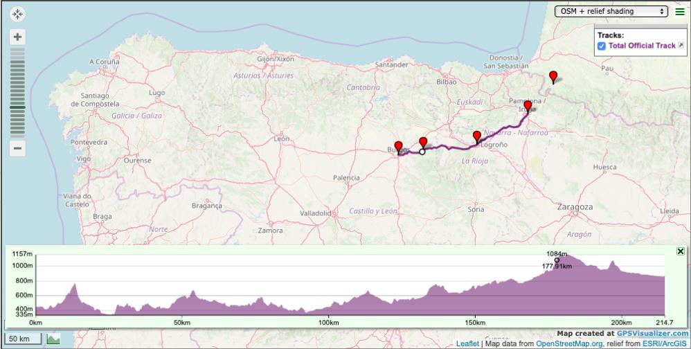 Pilgrim-Paths-Pamplona-Burgos-Map